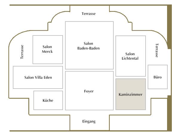 Erdgeschoss / Kaminzimmer