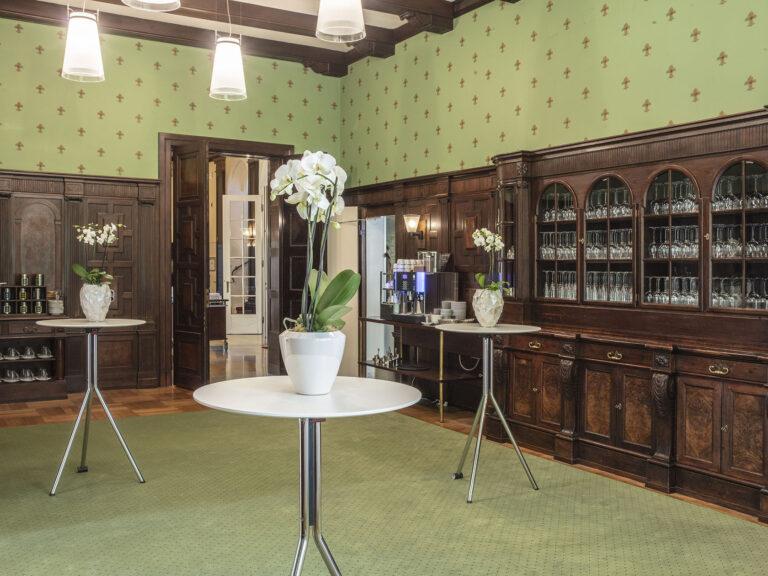 Blick in den Salon Villa Eden